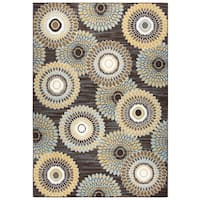 "Xpression Brown Medallion Area Rug - 5'2"" x 7'2"""
