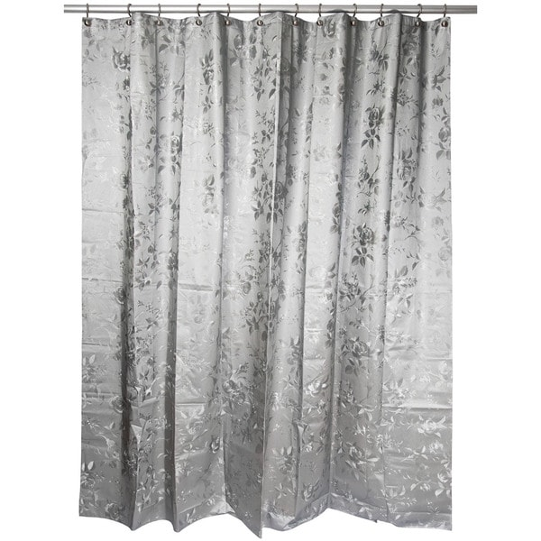 Famous Home Etched Rose PEVA Shower Curtain