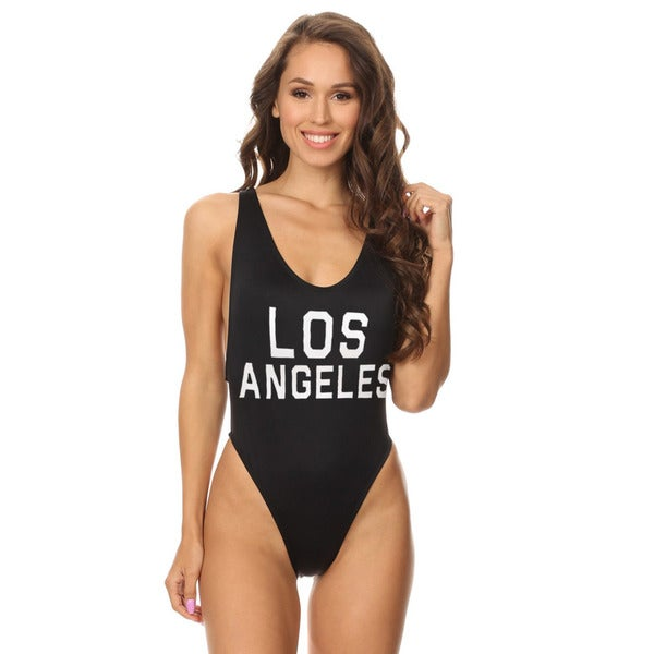 daaf103199183 Shop Famous Maker Black Bride Women s V-Cleavage High Cut One Piece Swimsuit  - On Sale - Free Shipping On Orders Over  45 - Overstock - 16372765