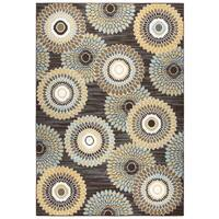 Rizzy Home Xpression Medallion Brown Area Rug - 8' x 10'