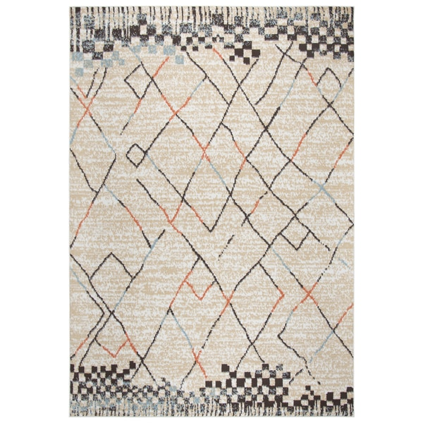 Rizzy Home Xpression Blocks/Lines Ivory Area Rug - 8' x 10'