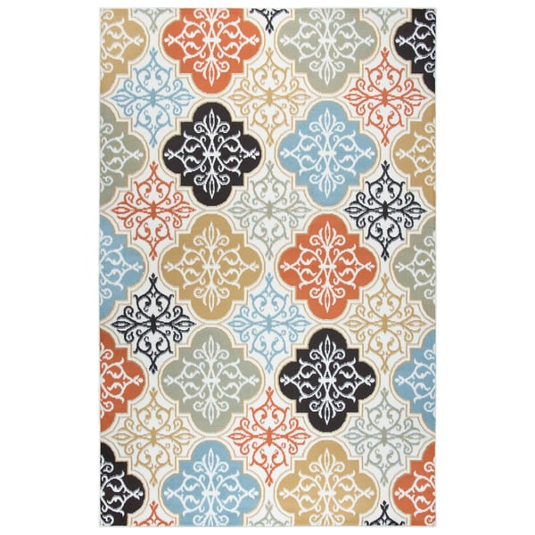 Rizzy Home Xpression Medallions Ivory Area Rug - 8'0 x 10'0