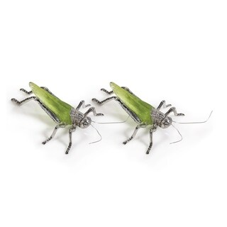 Decorative Grasshopper Figurine, Green (Set of 2)