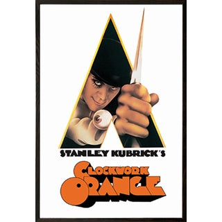 A Clockwork Orange- Knife' Walnut Wood Framed Poster