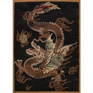 "United Weavers Legends Dragon Luck Black Area Rug - 6'6"" x 9'10"""
