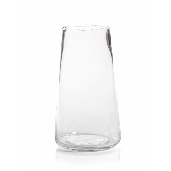 Shop Manarola 14 Tall Clear Glass Vase On Sale Free Shipping