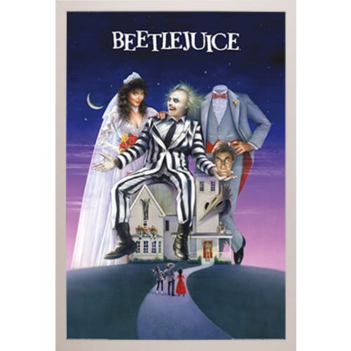 Beetlejuice' White Plastic Framed Poster