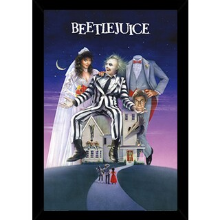 BeetleJuice Poster in a Black Poster Frame (24x36)