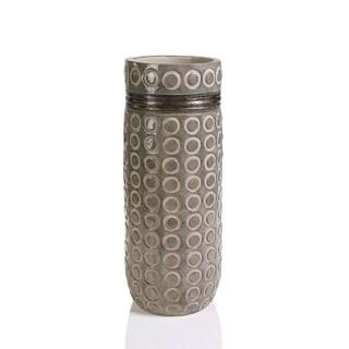 """""""Zanzi Laurel"""" 19"""" Tall Terracotta Vase, Oak"""
