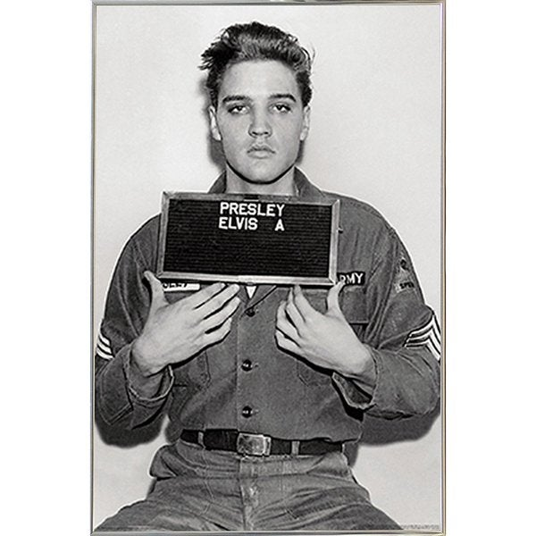 Elvis Presley - Enlistment Photo Poster in a Silver Metal Frame ...