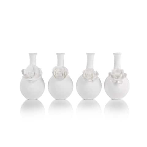 """""""Cameo"""" Porcelain Long Neck Vase (Set of 4)"""