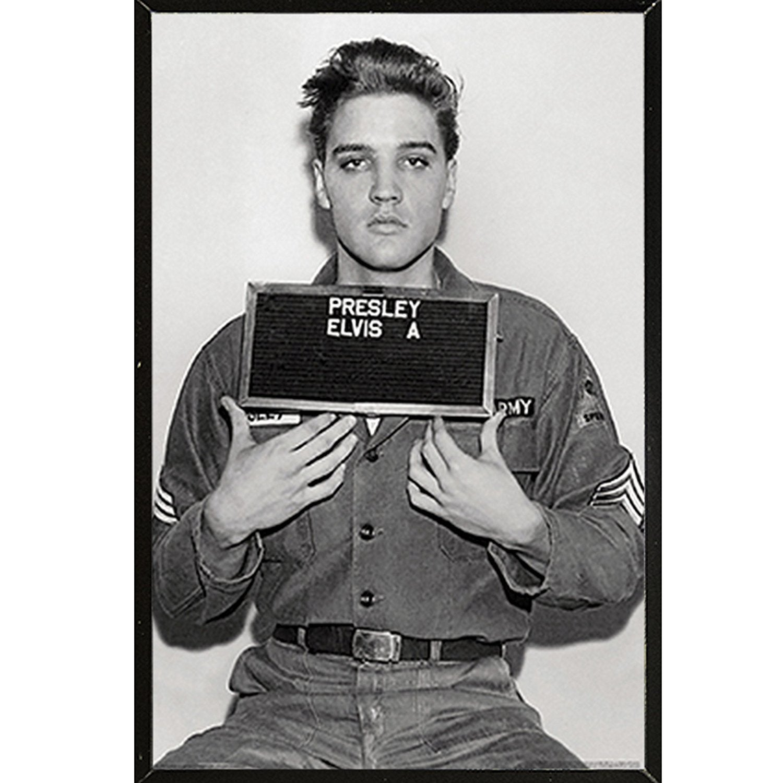 Elvis Presley Enlistment Photo Rock Music Poster 24x36