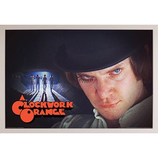 A Clockwork Orange- Group' White Plastic Framed Poster