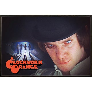 A Clockwork Orange- Group' Walnut Wood Framed Poster