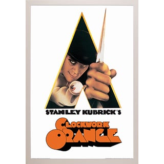 A Clockwork Orange- Knife' White Plastic Framed Poster