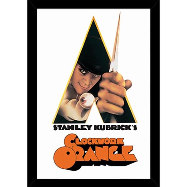Shop A Clockwork Orange Knife Poster In A Black Poster Frame