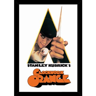 A Clockwork Orange - Knife Poster in a Black Wood Frame (24x36)