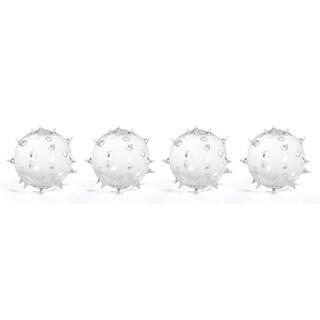 """Suri"" 6.75"" Diameter Glass Vase, Spiked Ball Design (Set of 4)"