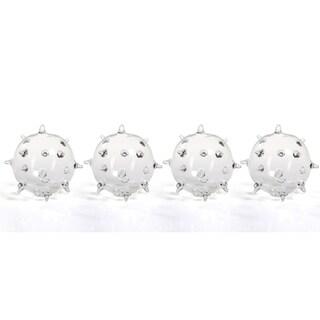 """Suri"" 4.5"" Diameter Glass Vase, Spiked Ball Design (Set of 4)"