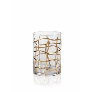 """10"""" Tall Hurricane Candle Holder, Groove Design"""