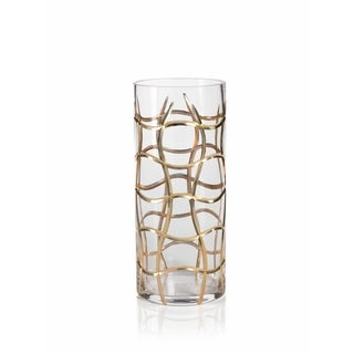 """14"""" Tall Hurricane Candle Holder, Groove Design"""