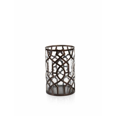 """Trocadero"" 10"" Tall Hurricane Candle Holder"