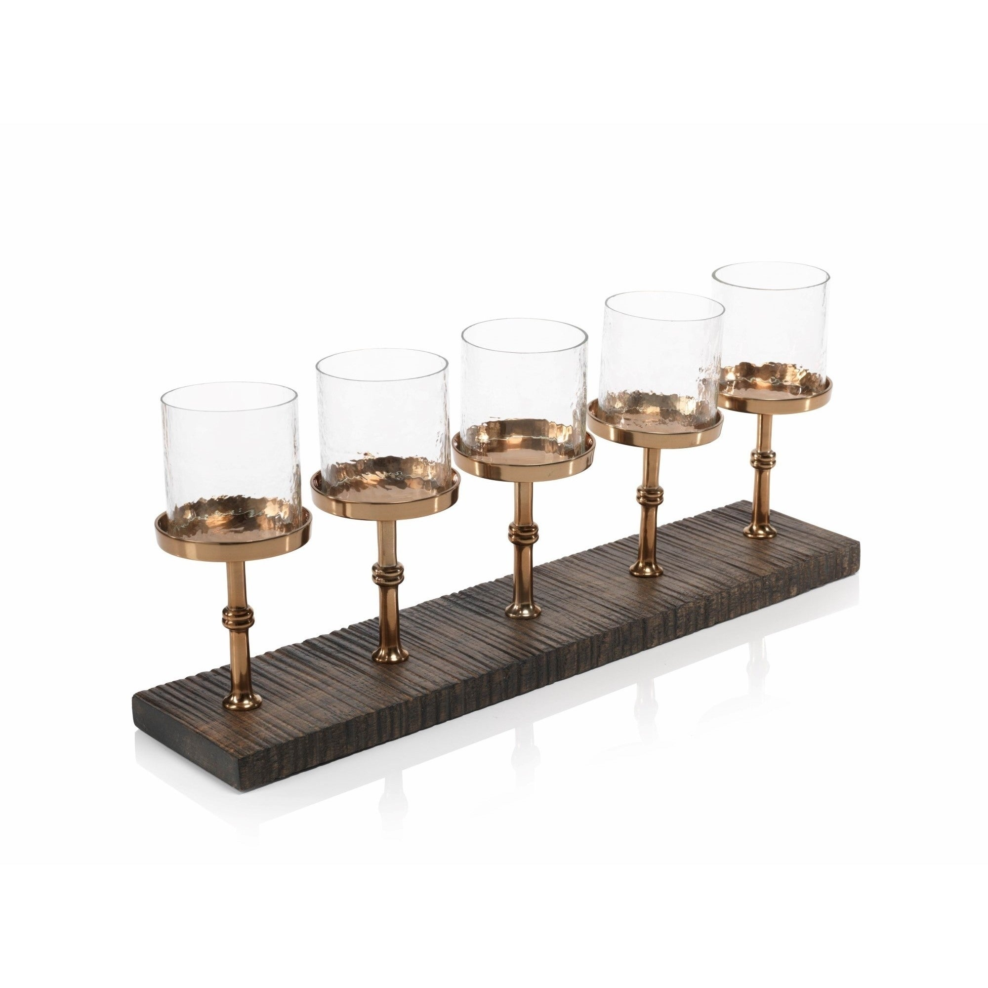 Regis 22 Long 5 Tier Centerpiece Candle Holder Gold Overstock 16372932