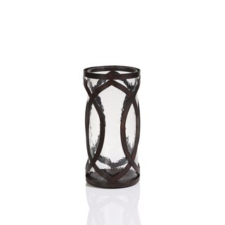 """Charina"" 5.5"" Diameter Iron Hurricane Candle Holder"