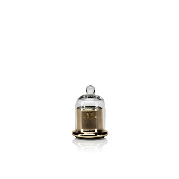 Small Glass Jar Candle with Bell Cloche, Golden Beach Scent (Set of 2)