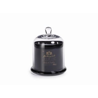 Large Glass Jar Candle with Bell Cloche, Black Dahlia Scent