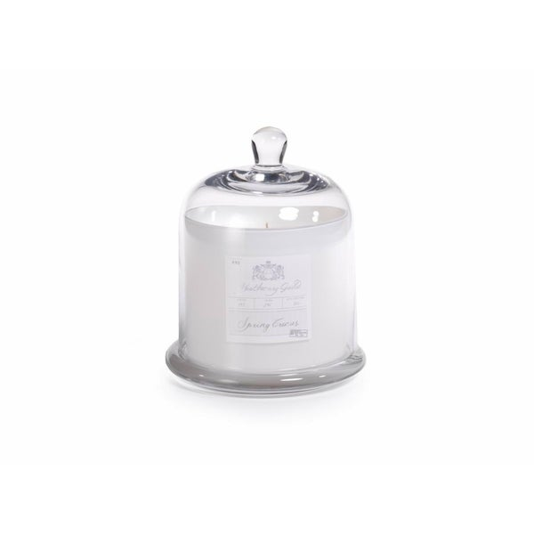 a4a5224a21fc6 Shop Large Glass Jar Candle with Bell Cloche, Spring Crocus Scent - Free  Shipping Today - Overstock - 16373004