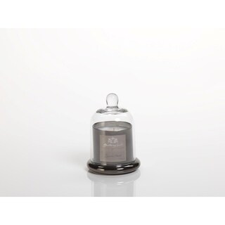 Small Glass Jar Candle with Bell Cloche, Peppered Smoke Scent (Set of 2)