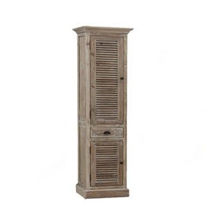Infurniture Rustic Textured Wood 79-inch Side Cabinet