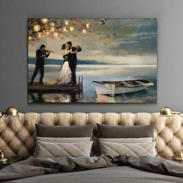 Black And White Paintings For Bedroom Bedroom Sets Black Modern Bedroom Black Bedroom Furniture Sets Pictures: Shop Wexford Home Twilight Romance Gallery-wrapped Canvas