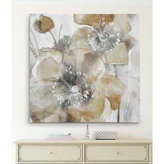 Wexford Home 'Taupe Spring Poppy II' Gallery-wrapped Canvas Wall Art
