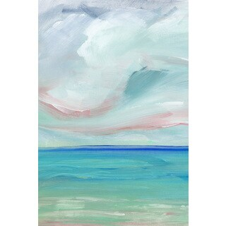 'Ocean Scape' Painting Print on Wrapped Canvas