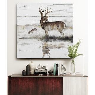 Rustic Misty Deer