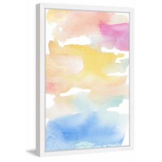 'Coastal Sunset' Framed Painting Print