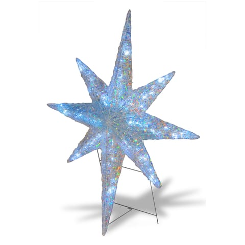"National Tree Company 42"" Holiday Christmas Ice Crystal Acrylic Decorative Star with 64 LED Lights"