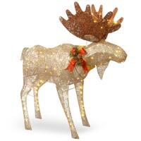 "48"" Moose Decoration with White LED Lights"