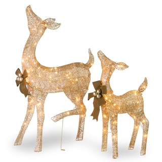 Link to Pre-Lit LED Fawn and Doe Similar Items in Christmas Decorations