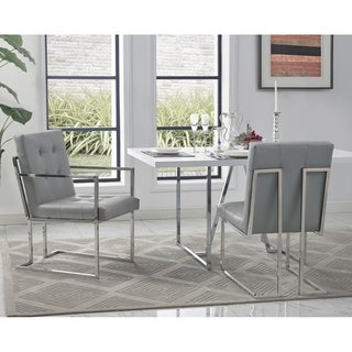 Astor Armed/Armless Dining Chair Button Tufted Set of 2
