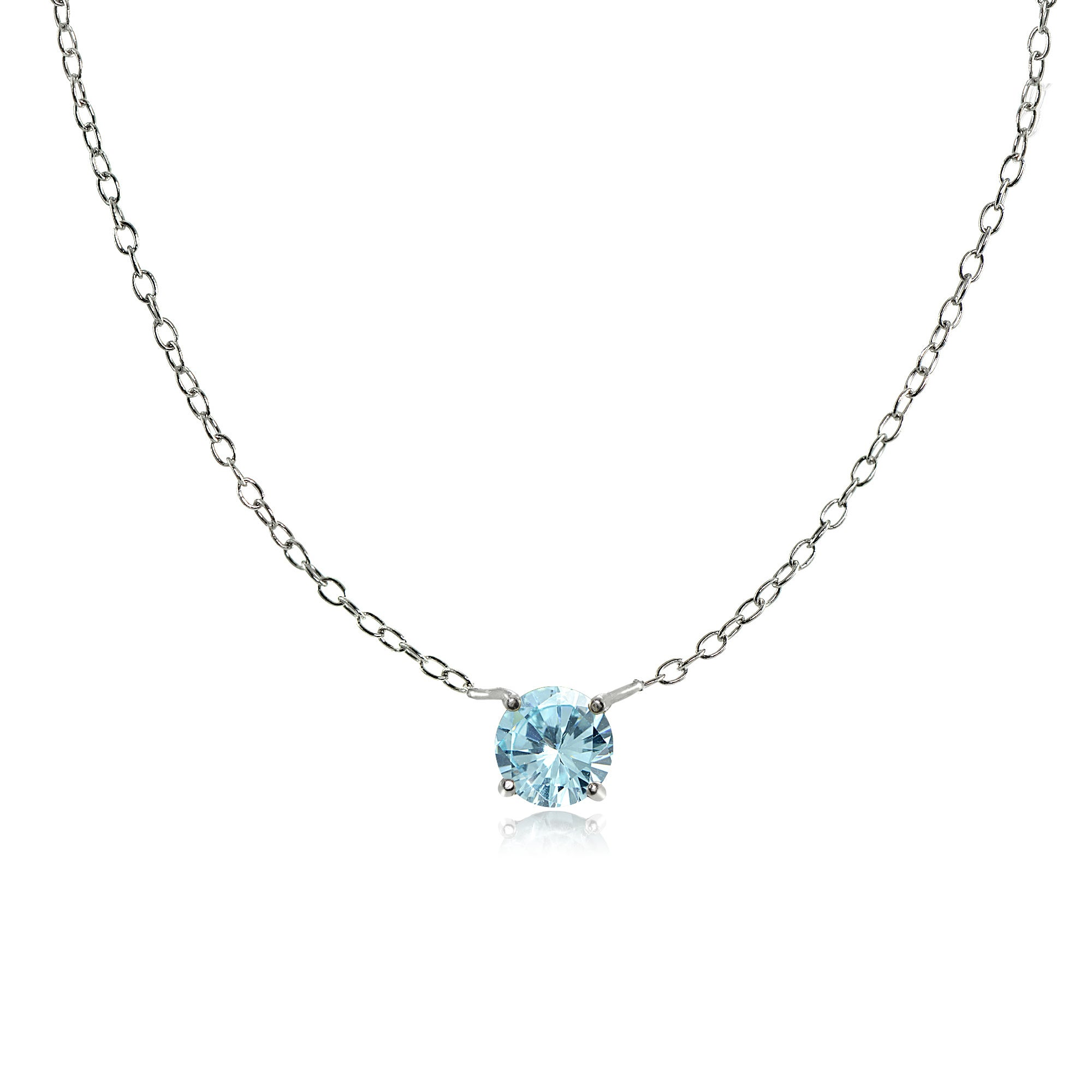delicate jewelry gemstones Handmade in California gift Mini silver crystals necklace