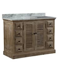 Carrera White Top 48-inch Rustic-style Single-sink Bathroom Vanity