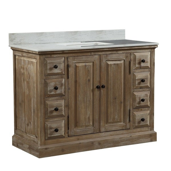 Shop Infurniture Rustic-style 48-inch Single Sink Bathroom ...
