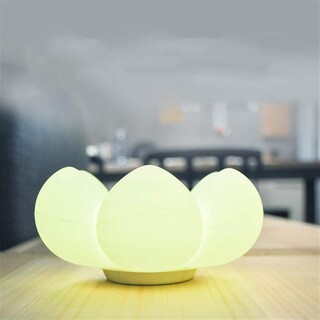 Flower Storage LED Table Lamp Silicone Touch Control Bedside Light Decoration Light Color Random