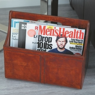 Urban Designs York Hand Made Leather Double Magazine Holder