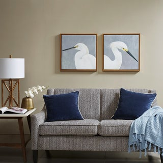 Madison Park Seabird Thoughts Natural Heavy Gel Coat Canvas With Gold Frame 2 Piece Set