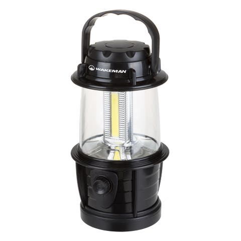 LED Lantern, Adjustable LED COB Outdoor Camping Lantern for Hiking, Camping and Emergency By Wakeman Outdoors (Black)