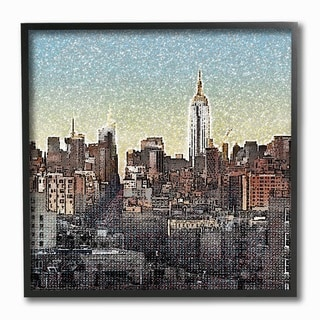 VintageNYC Textured Photograph Framed Giclee Texturized Art